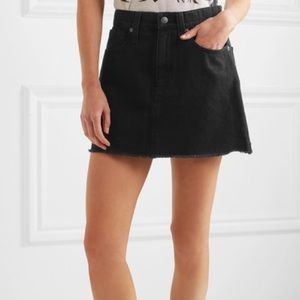 Madewell Skirts - Madewell Denim Black Skirt